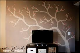 home decor tree wall painting diy teen room decor bathroom