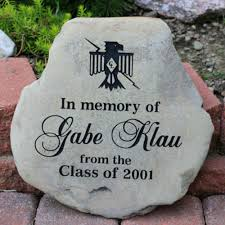 engraved memorial stones a custom engraved garden memorial medium personalized km