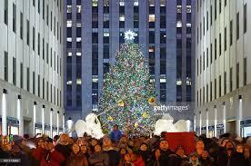 rockefeller center christmas tree lighting stock photos and