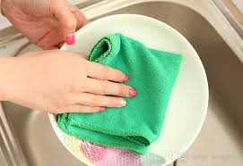 Not Contaminated With Oil Washing 2017 cleaning cloth absorbent lint free dish cloth thick