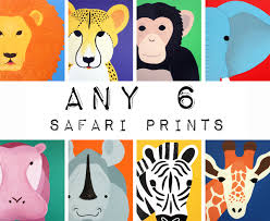 Prints For Kids Rooms by Nursery Art Safari Animal Prints For Baby Child Pictures Of