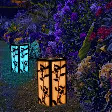 Solar Patio Lights Amazon by Solar Hanging Lantern Hummingbird Garden Decoration Outdoor Color