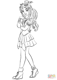descendants wicked world freddie coloring page free printable