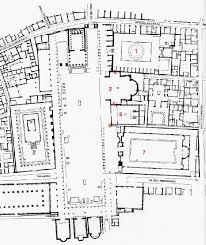 roman insula floor plan map of the forum at pompeii
