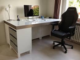 Schreibtischplatte Mit Schubladen Bau Eines Stylischen Schreibtisches Aus Dem Ikea Programm
