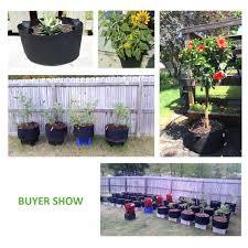 amazon com vivosun 5 pack 15 gallon plant grow bags premium