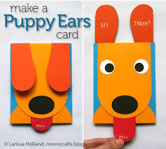 the cutest handmade card ever ears puppies and card crafts