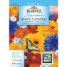 flower seed packets shop burpee mixed flowers flower seed packet at lowes