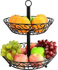 fruit and vegetable baskets vintage style two tiered vegetable basket stand