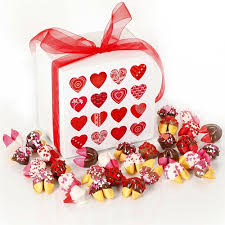big valentines day s day fortune cookies chocolate covered fortune cookies