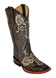 s boots cowboy ferrini silver metallic cross s toe cowboy boots