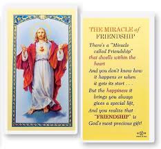 the miracle of friendship sacred of jesus laminated prayer