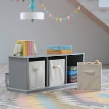 Living Room Toy Storage by Classic Playtime Hopscotch Storage Bench Gray Hayneedle