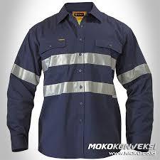 Baju Levis Biru baju proyek wearpack kerja lengan panjang warna biru navy dongker