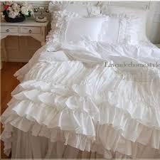 copriletti romantici trapuntato romantico volant arco biancheria da letto set