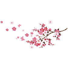 compare prices on blossoming flower wall sticker online shopping 120x50cm cherry blossom flower wall stickers waterproof background wall sticker 739 decors murals decals for bedroom