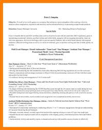 Promotional Model Resume Template 100 Tour Manager Resume An Example Of A Resume For A Job