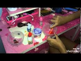 cara membuat slime menggunakan lem fox tanpa borax cara membuat slime dengan baking powder tanpa borax slime act