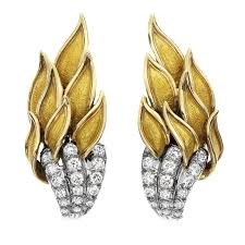 s clip on earrings 383 best jean schlumberger images on brooches
