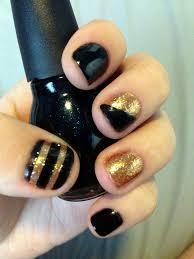 6 black polish nail designs is back and so are black nail polish