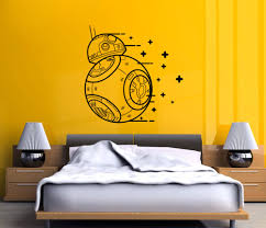 online get cheap star wars wall stencils aliexpress alibaba wall decal vinyl sicker star wars the force awakens droid boys