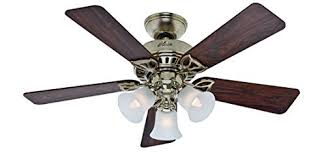 Ceiling Fan Amazon hunter beacon hill 42 in antique brass downrod or close mount