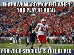 Nebraska Football Memes - last year at northwestern and we where there go huskers love