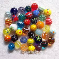 2014 beautiful small decorative colored glass marble for