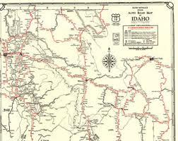 map of idaho vintage idaho map etsy