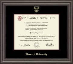 harvard gold embossed diploma frame in acadia item