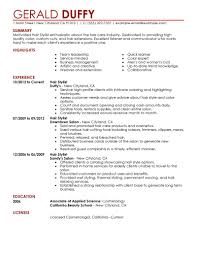 hair stylist resume cover letter