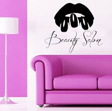 custom wall decals girl model make up lips nails manicure details wall decals