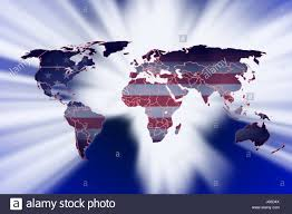 World Cloud Map by Blue American Usa Flag Globe Planet Earth World Map Atlas Map Of