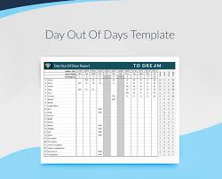 free day out of days excel template sethero call sheet software