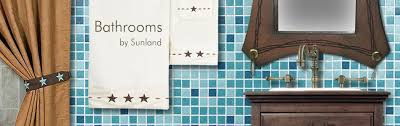 bathroom decor and accessories in southwestern lodge styles