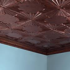 fasade ceiling tile 2x4 direct apply art deco in moonstone copper