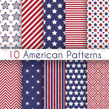 Blue White Red White Blue Flag Patriotic Red White And Blue Geometric Seamless Patterns Usa
