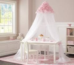 Pink Canopy Bed Pink Ruffle Canopy Pottery Barn Kids