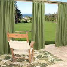sunbrella outdoor curtain with tabs in spectrum cilantro 50 in x