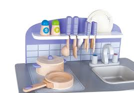 usa toyz hape wooden kitchen play set includes 13 accessories