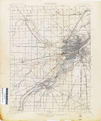 Toledo Ohio Map Historical Topographic Maps Perry Castañeda Map Collection Ut