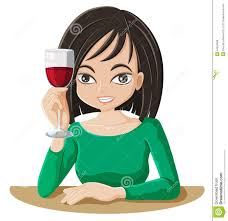wine clipart women drinking wine clipart 9