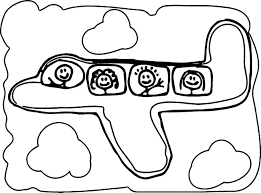 basic airplane coloring page wecoloringpage