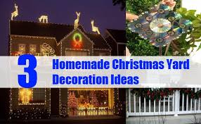 Christmas Exterior Decorations Ideas by 3 Homemade Christmas Yard Decoration Ideas Bash Corner