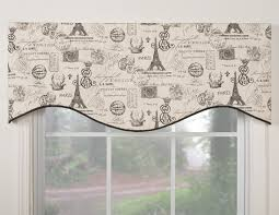 midtown shaped valance overstock com shopping the best deals spruce up any window with this retro inspired and french themed valance this m shaped valance is made of lined cotton and has rod pocket construction