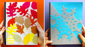 pattern play notebooks diy fall and winter notebooks video hgtv