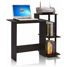 Wooden Desk With Shelves Homestar 2 Piece Laptop Desk And 4 Shelf Bookcase Set Reclaimed