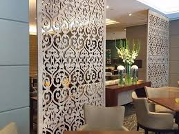 Carved wooden MDF decorative wall panels room divider wall art