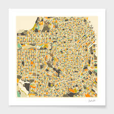 San Francisco Maps by San Francisco Map Numbered Edition Art Print By Jazzberry Blue