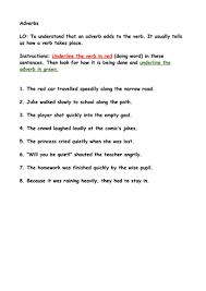 identify verbs and adverbs in a sentence by fortune nicky